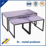 Painting Pictures Center Metal Glass Coffee Table