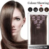 Wholesale Price Clip in Brazilian Virgin Hair Extensions 7pieces 16clips Full Head Set