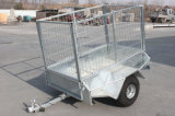 5′x3′ Single Axle Galvanized Box Trailers with Cage