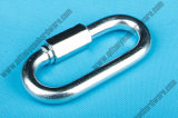 Factory Supplier Carbon Steel Zinc Plated 3.5mm Chain Quick Link/Carabiner