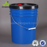 Durable 20L HDPE Plastic Pail with Lift Lid and Plastic Handle