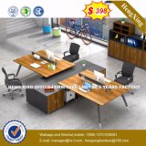 Modern Aluminum Glass Wooden Cubicles Workstation Office Partition (HX-8N0100)