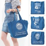 Fashion Canvas Shopping Bags for Women Girl Lady Blue Shopper Beach Bag Casual New Large Bags
