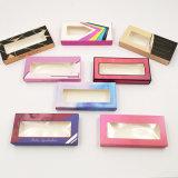 Hot-Selling Eyelash Boxes Without Inner Tray, New Style Color Printing Window Style False Eyelash Box, Cheap and Fine Folded Eyelash Box
