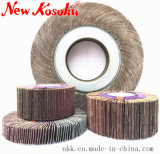 """4"""" 5"""" 6"""" 7"""" 10"""" 12"""" Flap Wheel for Welding-Seam Removal, Deburring, Shiny Surface"""