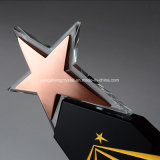 Customized Design Popular Crystal Trophy Award with Five Star