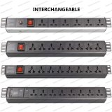 19 Inch Interchangeable Type Universal Socket Network Cabinet and Rack PDU