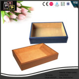 Wooden Handcrafted File Holder Leather Tray (3052)