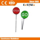 Stop/Go Reflective Folding Traffic Sign, Aluminum, Paddle Sign