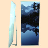 Outdoor Advertising Portable Aluminum L Banner Stand