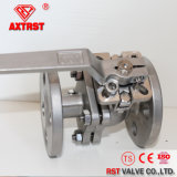 2PC Flanged Stainless Steel Ball Valve with Direct Mounting Pad
