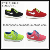 Comfortable Children Canvas Shoes Injection Sport Shoes OEM (ZJ428-8)