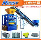 Qt4-24 Most Popular Simple Vibrated Concrete Cement Brick Block Making Machine Best Price Big Pressure and Vibration with Conveyor Save Labor Cost