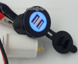 Cigarette Lighter Socket Splitter 12V Dual 2 Port USB Car Charger Power Adaptor Mobile Phone Accessories