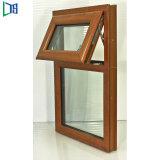 Aluminium Hand Crank Awning Window in Timber Coating