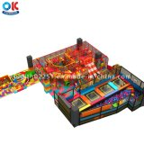Commercial Kids Indoor Playground with Jumping Trampoline Park Area