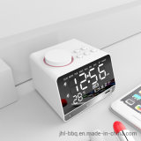 2019 Fashion Tabletop and Desk Blue Tooth Speaker  with Calendar Clock and Dual Alarm FM Radio Speaker Dual USB Charging Week and Temperature Display