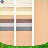 Woven Waterproof Flocking Blackout Curtain Fabric Polyester Linen Window Curtain Fabric From Textile Factory