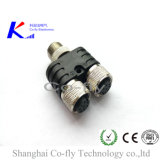 Y T Splitter Adapter Plug M12 Waterproof Cable Connector