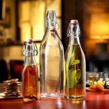 250ml/500ml/1000ml Beverage Bottle, Glassware, Glass Bottle for Drinking with Swing Top on Sale