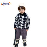 New Style of Children′s Skin Friendly High Collar Thousand Bird Check Angora Sweater in Autumn and Winter