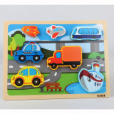 Wholesale Custom Board Games Puzzle Kids Toys Super Big Truck Wooden 3D Puzzle