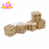 Wholesale Cheap 6 Sided Classic Wooden Adult Dice Games Include 5 Dice W01A307