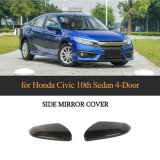 Carbon Wing Mirror Covers for Honda Civic 10th Sedan 4-Door 2016-2018