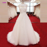 Attractive Back Beaded Bodice Bridal Dress Strapless Sweetheart Neckline A Line Wedding Gown