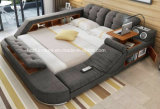 Modular Multifunctional Soft Fabric King-Size Bedroom Bed