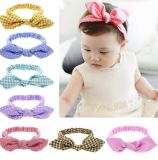 Baby Girl Headbands Accessories Multicolor Knotted Head Wrap Elastics Hair Band with Bow