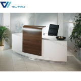5 Star Hotel Workstation Lighted Round Reception Counters