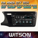 Witson Windows Radio Stereo DVD Player for Honda City 2014 LHD