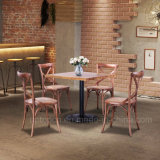 Classical X Back Solid Wood Restaurant Dining Chair (SP-EC140)