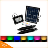 Portable RGB 20LED Solar Powered Garden Security Flood Light with Remote Control