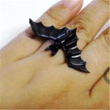 Black Bat Personality Adjustable Ring Animal Ring