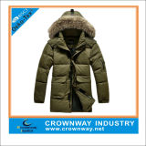 Mens Winter Duck Polo Long Down Jacket with More Pockets