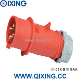 Qixing High-End Type Industrial Plug 400V 16A IP44
