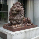 Outdoor Cast Bronze Animal Statue Lion Sculpture for Sale