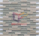 Grey Wood Grain Marble with Glass Mosaic (CFS712)