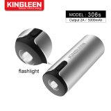 Aluminium Multi-Functional 6000mAh Power Bank Flashlight Hand Warmer External Battery