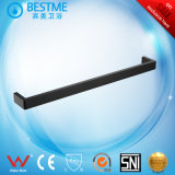 Black Color Simple Style Stainless Steel Single Towel Bar (BG-C65001K)