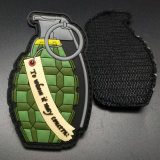 Factory Custom Army Tactical Gear Grenade Logo Police Patches Apparel Accessories Clothing Label PVC Rubber Patch in China