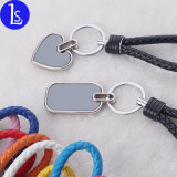 Promotional Gifts Cheap Car Accessories Leather Rope Keyring Keychain