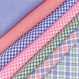 High Quality 100% Cotton School Uniform Checked Fabric for Skirt