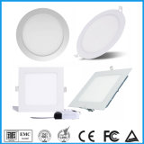 3 Years Warranty 6W 12W 15W 18W LED Panel Light Fixtures Dimming Ceiling Panel Lights Round Square Recessed LED Light Home Lamp