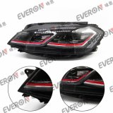 LED Head Lamp for VW Golf 7.5 with Red Line
