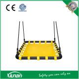 Giant Deluxe Mat Platform Swing Made of Nylon Rope and Padded Steel Frame for Multiple Children