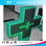 P14 Outdoor Double Face Green Pharmacy LED Cross Display