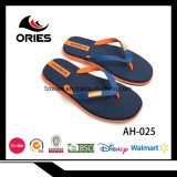 Wholesale Two Color PVC Upper EVA Man Beach Slippers with High Quality